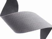 10 meter Tassenband 10mm breed - grijs - PP