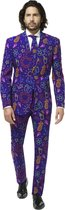 OppoSuits Doodle Dude - Mannen Kostuum - Gekleurd - Feest - Maat 56