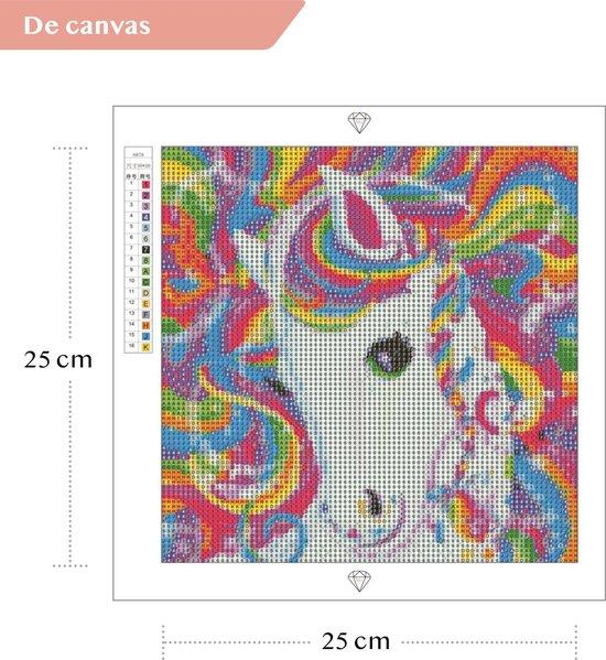 Diamond Painting Kinderen Unicorn 25x25cm - Rond - Eenhoorn - Starterspakket - Kinderen - Kids - Met E-book - Art Diamond®