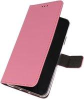Wallet Cases Hoesje Samsung Galaxy A70s Roze