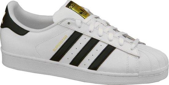 adidas Superstar C77124, Mannen, Wit, Sneakers maat: 49 1/3 EU