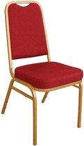 Stapelbare Bolero rode banket stoelen (4 stuks)