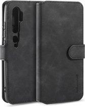 DG Ming Retro Portemonnee Xiaomi Mi Note 10 (Pro) Hoesje Zwart