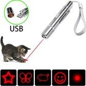 Beasti Toys™ - USB laserpen 4 in 1 met opbergblikje - Oplaadbaar - Rode laser - Laserlampje kat - Kattenspeelgoed - Zaklamp - LED- UV Licht - Nieuw model 2020