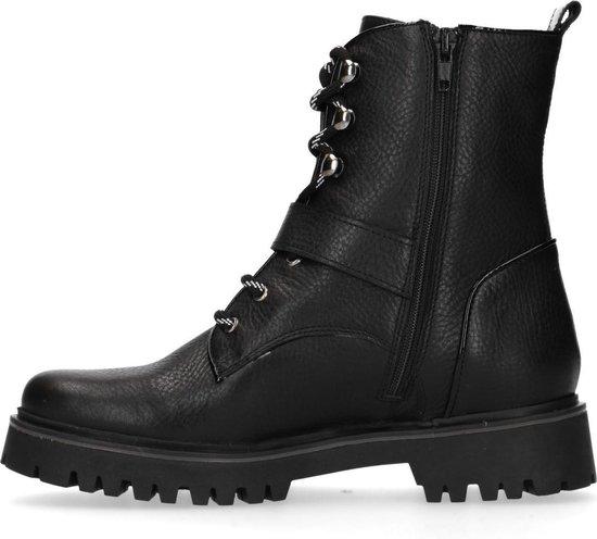 Manfield - Dames - Zwarte leren biker boots - Maat 40 XJnnzfHm
