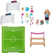 Barbie Dreamhouse Adventures Chelsea (15 cm) Voetbal Speelset - Barbiepop