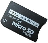 Micro SD to MS Pro Duo memory card adapter for Sony PSP 1000, 2000 & 3000 handheld consoles
