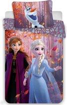 Disney Frozen - Dekbedovertrek - Eenpersoons - 140 x 200 cm - Multi