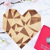 Luckies Houten hart puzzel - Rood