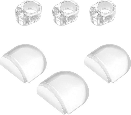 Deurstoppers voor binnen - 3x Zelfklevende Transparante Deurstopper | 3x Deurbuffer / Muurbeschermer