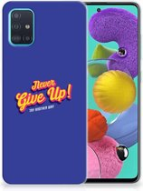 Samsung Galaxy A51 Siliconen hoesje met naam Never Give Up