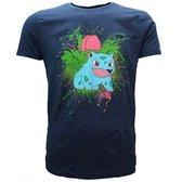POKEMON - T-Shirt Navy Herbizarre (S)