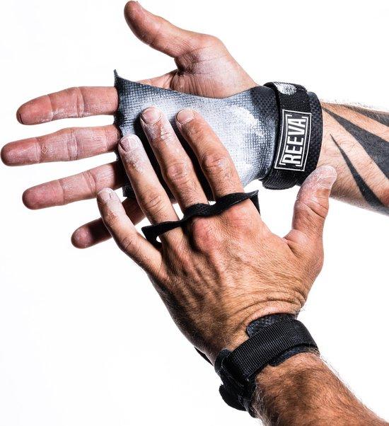 Reeva unisex volwassenen, gemaakt van hoogwaardig carbon grips-S, carbonleer voor ultieme grip op de stang, sterke klittenbandsluiting, waar je je kunt vasthouden.