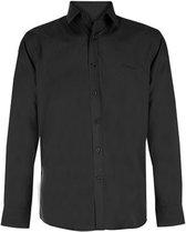 Pierre Cardin Overhemd - Zwart - Maat S - Stijlvolle Overhemden