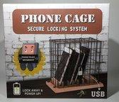 Telefoon opberger, gevangenis, mobieltje buiten gebruik leggen inclusief oplaadstation