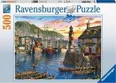 Ravensburger puzzel s Ochtends bij de haven - legpuzzel - 500 stukjes