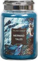 Village Candle - Mermaid Tales -  Large Candle - 170 branduren - Blauw