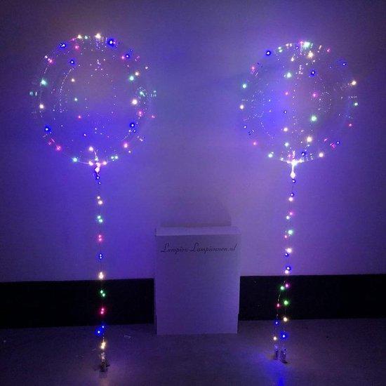 Lampion-Lampionnen LED Ballon XL verlichte ballon 60 cm  XXL - Super groot  - gratis ballon pomp