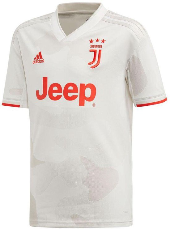 adidas Juventus Away Sportshirt - Maat 140  - Unisex - Wit/grijs/rood