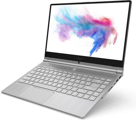 MSI Modern 14 A10M-488NL Notebook Zilver 35,6 cm (14'') 1920 x 1080 Pixels Intel® 10de generatie Core™ i7 8 GB DDR4-SDRAM 512 GB SSD Wi-Fi 5 (802.11ac) Windows 10 Home