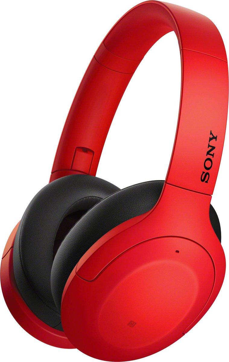 Sony WH-H910N - Draadloze over-ear koptelefoon met Noise Cancelling - Rood