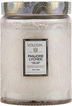Voluspa Embossed Glass - Geurkaars - Groot - 450gr - Panjore Lychee