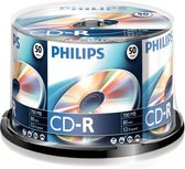 Philips CR7D5NB50 - CD-R 80Min - 700MB - Speed 52x - Spindle - 50 stuks