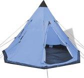 vidaXL Tent 4 personen blauw