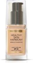 Max Factor - Healthy Skin Harmony Foundation - Light Ivory