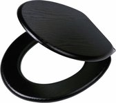 Tiger Blackwash wc-bril - Softclose - MDF - Zwart