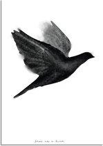 Zwart wit poster Vogel DesignClaud - B2 poster