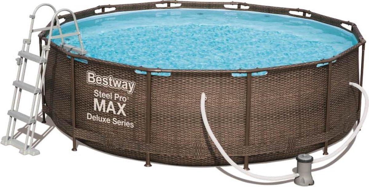 Bestway Steel Pro MAX Zwembadset Deluxe Series rond 366x100 cm 56709
