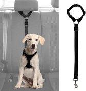 WiseGoods - Premium Hondengordel Auto - Hondenriem - Gordel Voor Hond - Autogordel - Veiligheid Voor Hond - Verstelbaar - Zwart