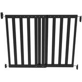 Noma Veiligheidshekje verstelbaar 63.5-106 cm hout zwart 93743