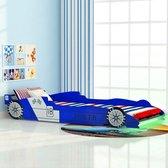 vidaXL Raceauto kinderbed met LED-verlichting - blauw - 90x200 cm