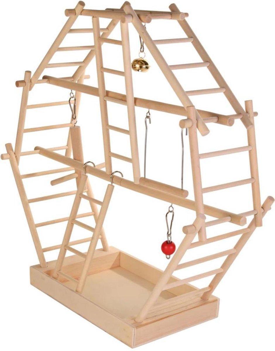 Trixie speelplaats ladder - hout - 44x16x44 cm - bouwpakket