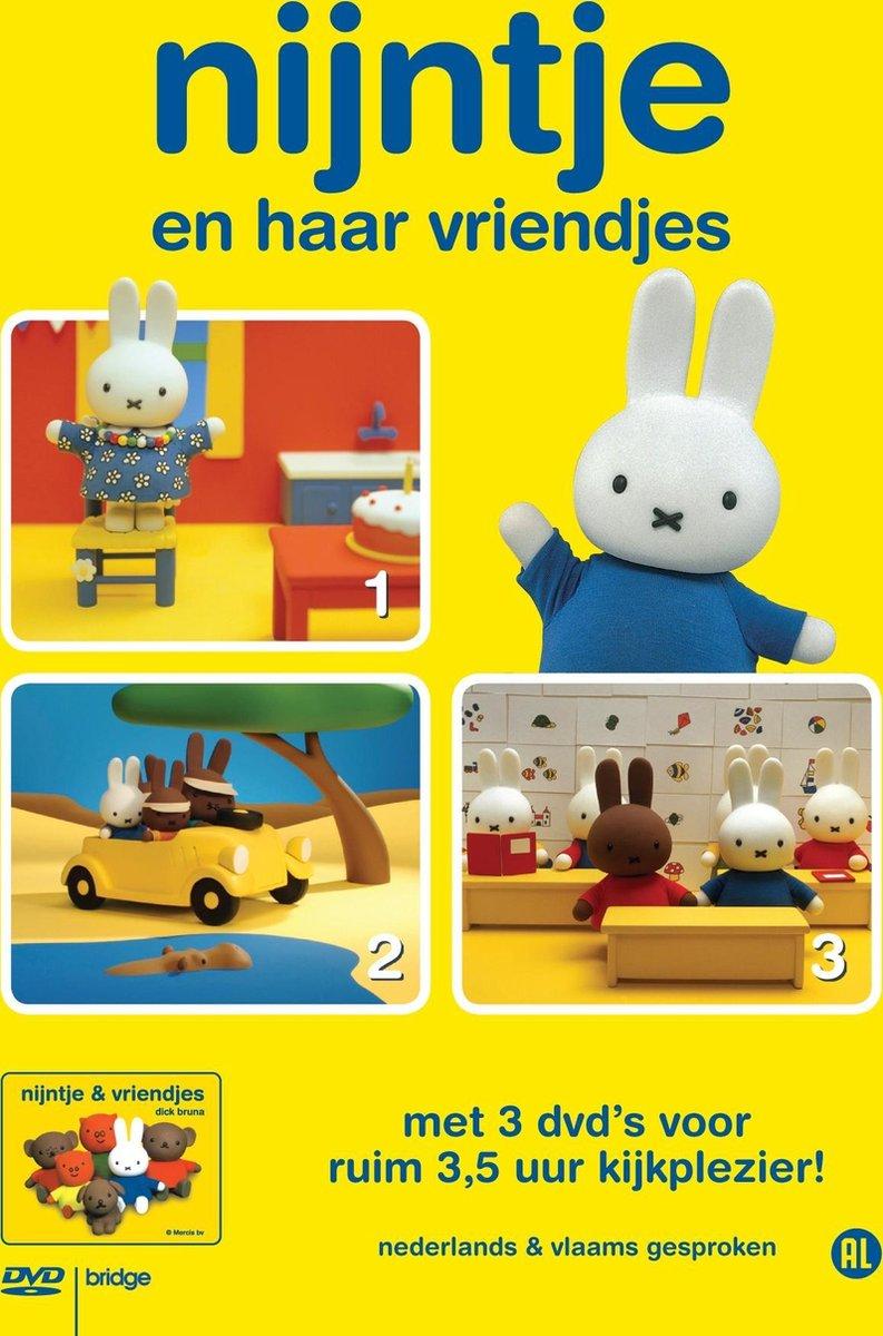 Nijntje En Haar Vriendjes - Box (Deel 1 t/m 3) - 3 Dvd Stackpack