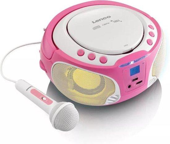 Lenco SCD-650 - Karaoke Radio/CD-speler - Roze