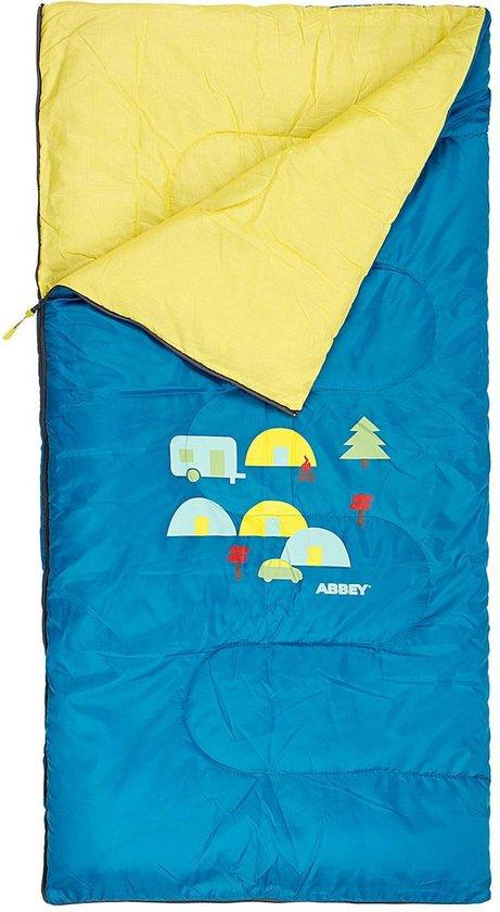 Abbey Camp Slaapzak Junior - Fairytale - Petrol/Geel