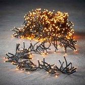 Luca Lighting kerstverlichting lichtsnoer - buiten - 1152 lampjes extrawarm wit - flashfunctie - 800 cm