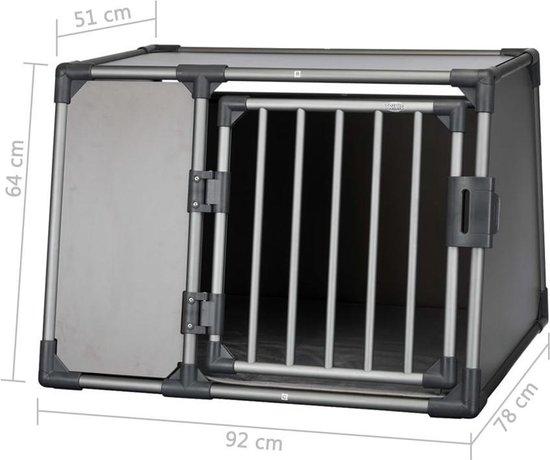 Trixie Vervoersbox Aluminium Grafiet - L 92X78X64 CM