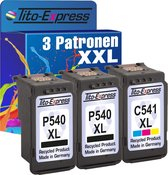 Tito-Express PlatinumSerie Voordeelset 3x Canon PG-540 XL Zwart & 2x CL-541 XL1 Kleur inktcartridges alternatief voor Canon PG-540 XL & CL-541