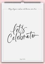 DesignClaud Verjaardagskalender Zwart Wit A4 + Ophanghaakje DesignClaud
