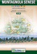 Topographische Karte Montagnola Senese 1:35000