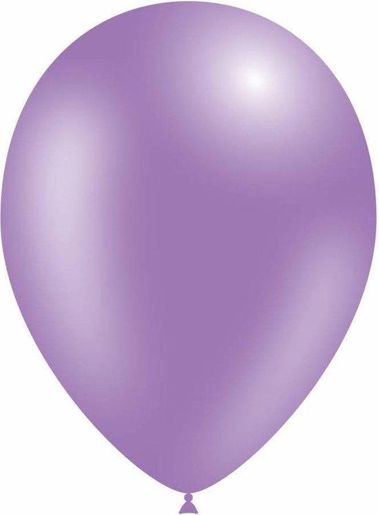 Lila Ballonnen Metallic 25cm 10 stuks