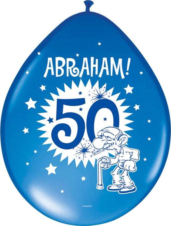 Folat - Ballonnen - 50 Jaar - Abraham - 30 cm - 8st.