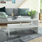 vidaXL Salontafel 90x59x42 cm spaanplaat wit