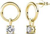 Yolora oorbellen met Swarovski Kristal - dames - Goud kleurig - YO-162