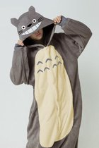 KIMU Onesie Totoro pak kigurumi muis kostuum grijs - maat M-L - Totoropak jumpsuit huispak