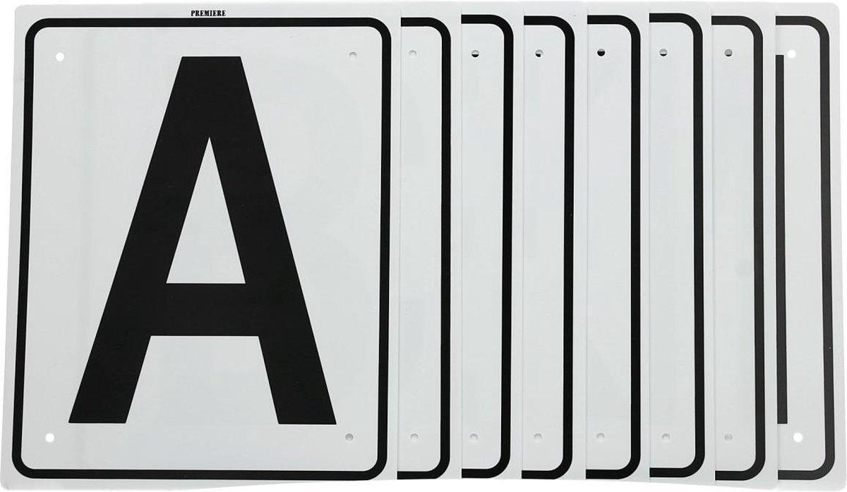 Premiere Manegeletters - Set/8 - 20x25 cm - Wit